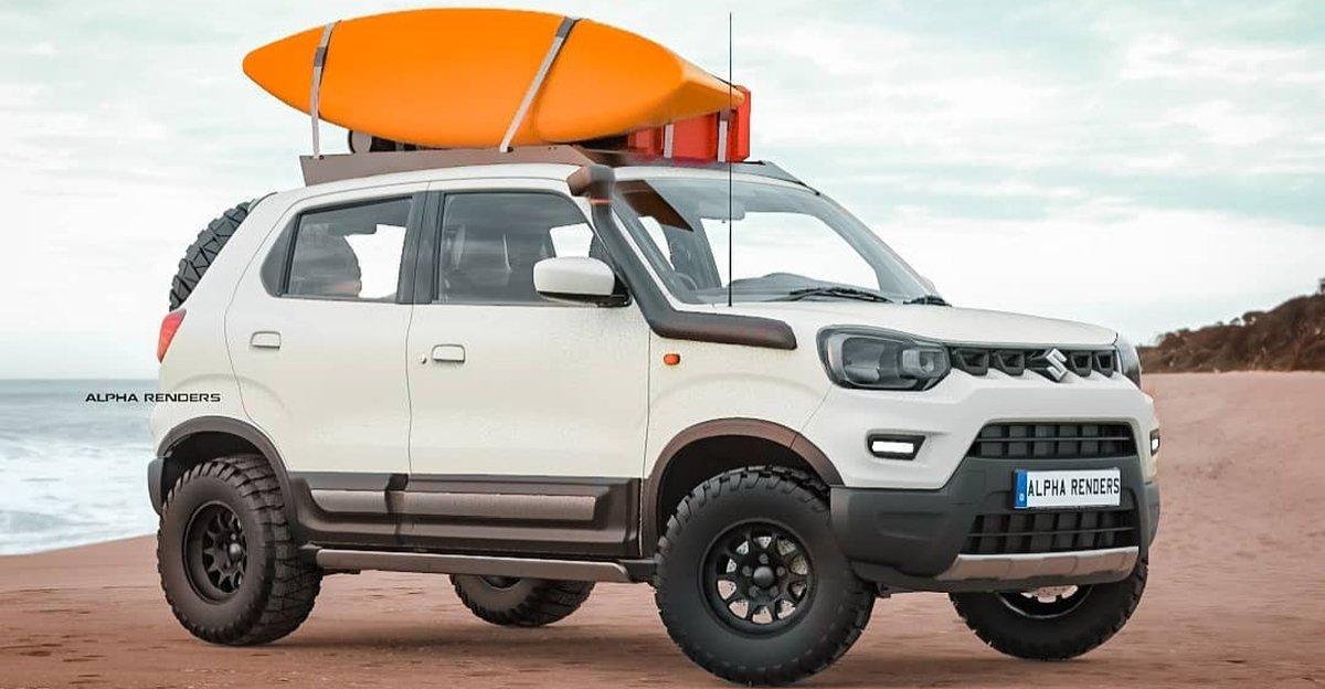 Maruti Suzuki S-Presso re-imagined as a beach SUV
