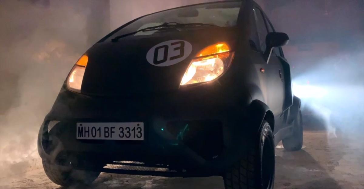 Tata Nano with a 1000cc Maruti Suzuki engine & body kit looks brutal [Video]