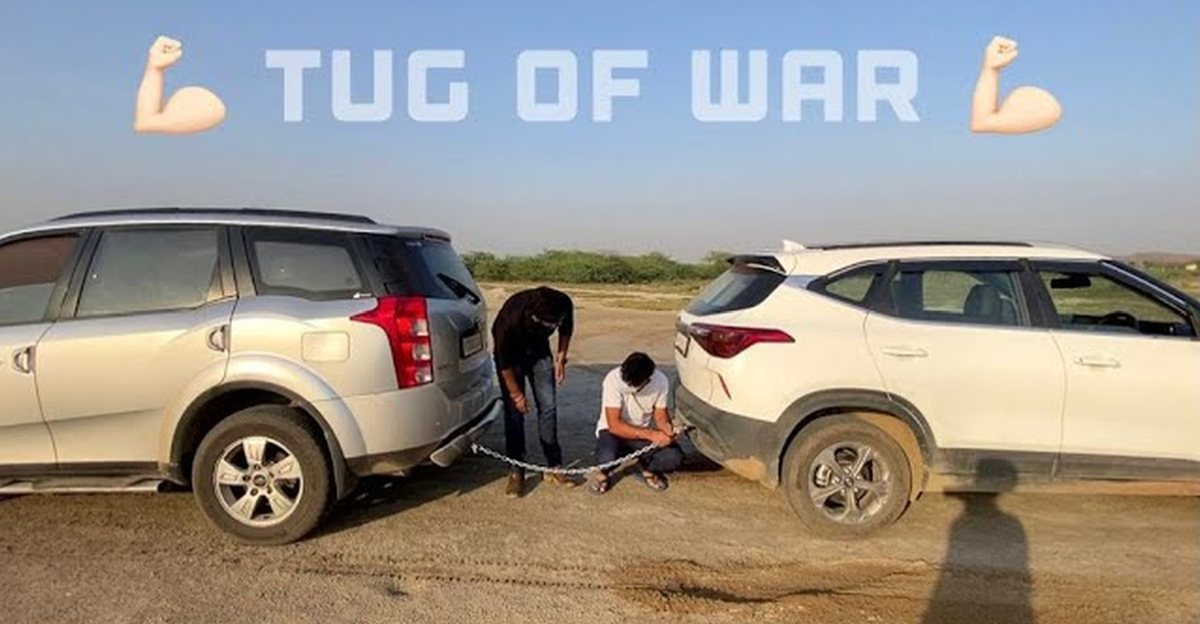 Mahindra XUV500 takes on Kia Seltos Diesel in a classic tug of war