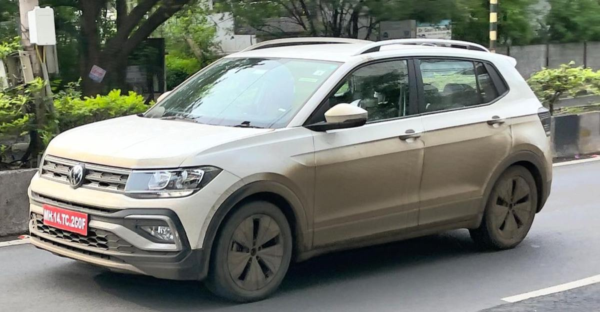 Volkswagen Taigun's lower variant spotted testing in Pune ahead of India launch