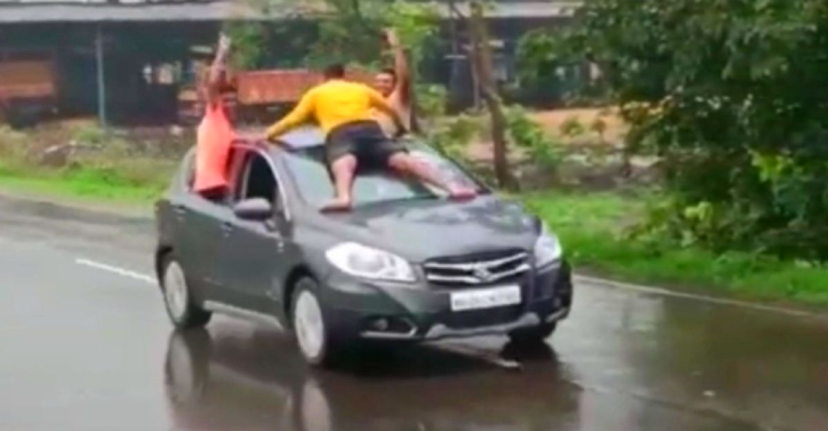 Youngsters' stunt on a moving car goes viral: Cops on the hunt to arrest them