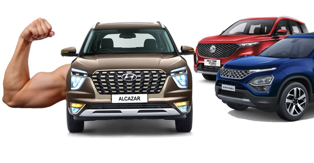 10 features that the Hyundai Alcazar offers that Tata Safari/MG Hector don't