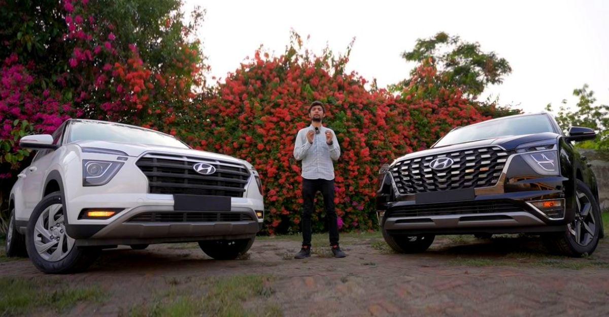 Hyundai Creta and Alcazar SUVs compared on video