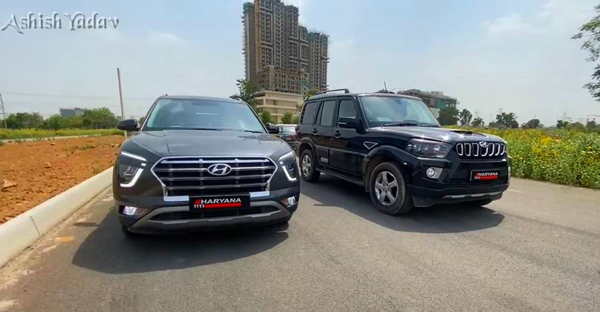 Hyundai Creta vs Mahindra Scorpio in a drag race