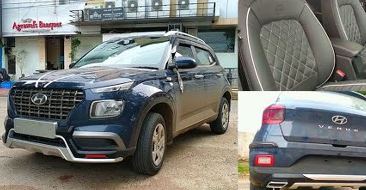 Hyundai Venue compact SUV modified with aftermarket accessories
