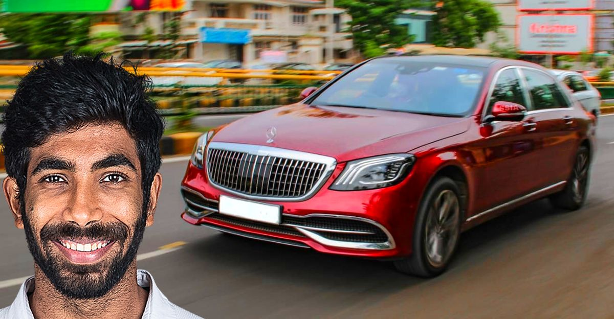 Cricketer Jasprit Bumrah spotted driving a Mercedes-Benz S560 Maybach