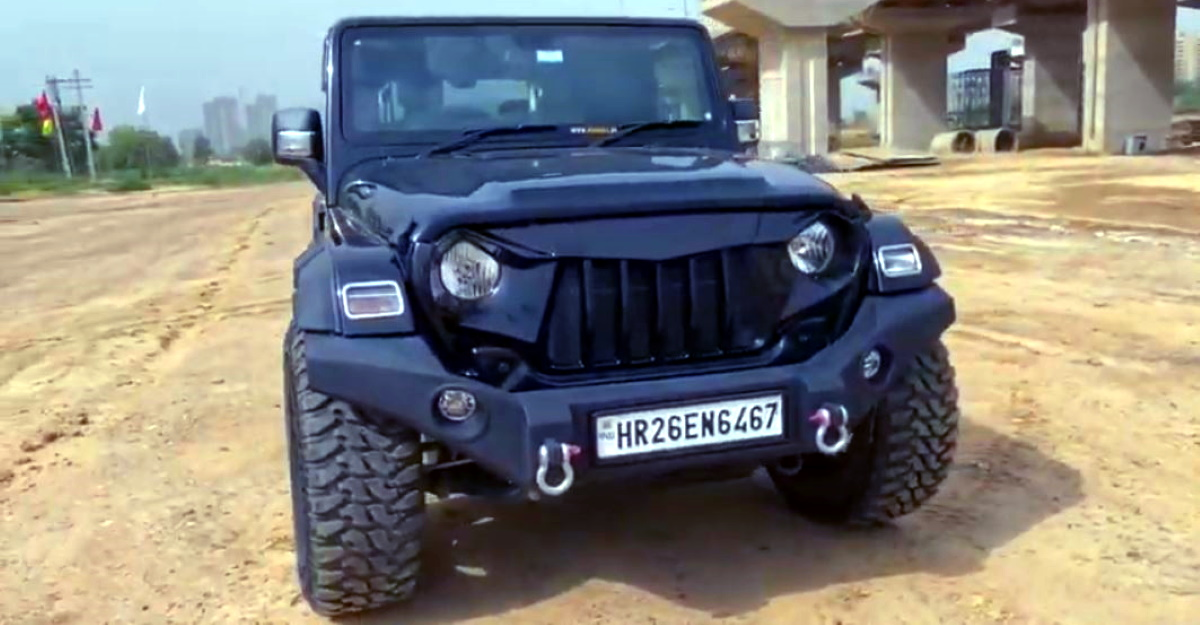 New Mahindra Thar with 35 inch tyres is a beast