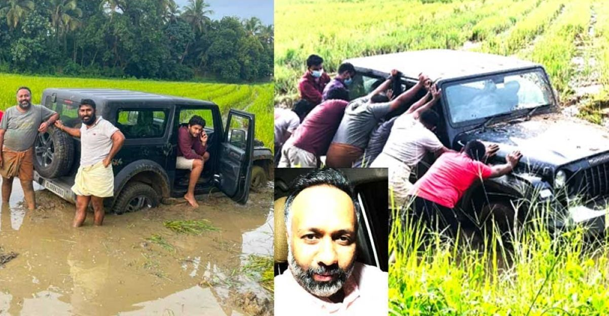 Kerala guys try to imitate Punjabi videos with Mahindra Thar: Get royally stuck