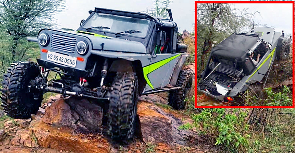 India's 1st Mahindra Thar V8 on an off-road track sounds like a G-Wagen