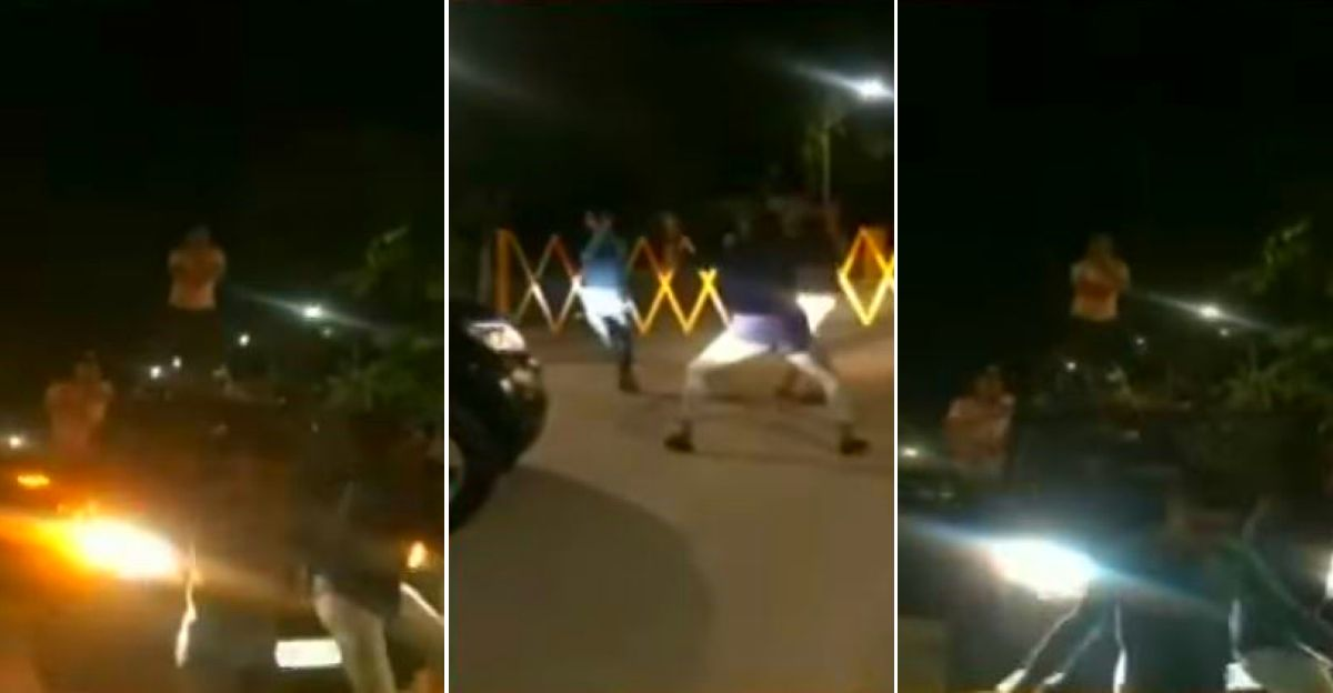 Youth break lockdown and dance on Mahindra XUV500 roof: Manhunt launched