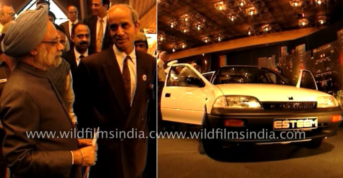 Blast from the Past: Maruti Esteem's launch in 1994 with former PM Manmohan Singh, & RC Bhargava