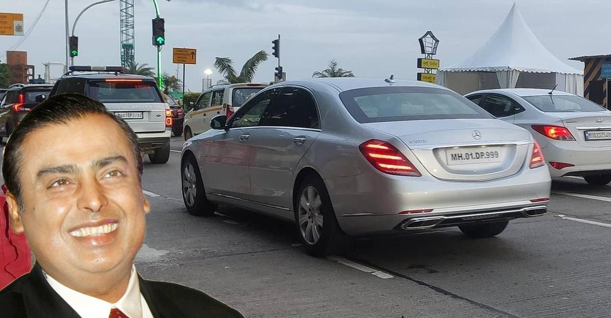 Mukesh Ambani's convoy with Mercedes S-Guard & Range Rovers: In images