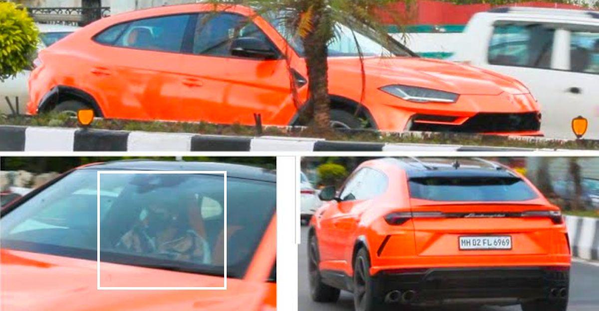 Ranveer Singh takes out his Lamborghini Urus on weekend drives
