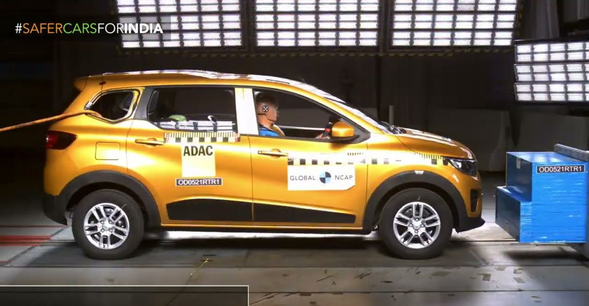 Renault Triber MPV scores 4 star Global NCAP safety rating!