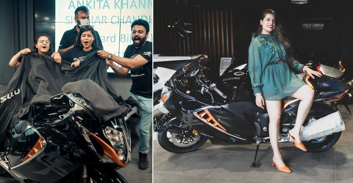 First woman to take delivery of 2021 Suzuki Hayabusa superbike in India [Video]