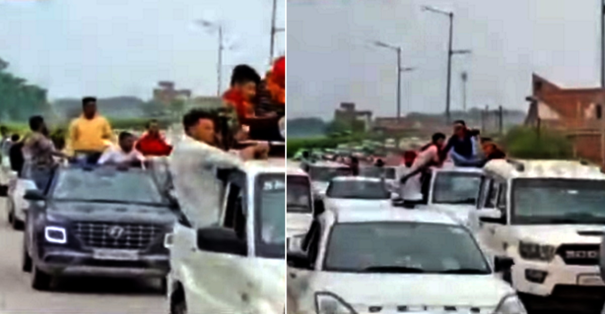 SP politician conducts road show after coming out of jail: Audi SUV & 23 other cars SEIZED