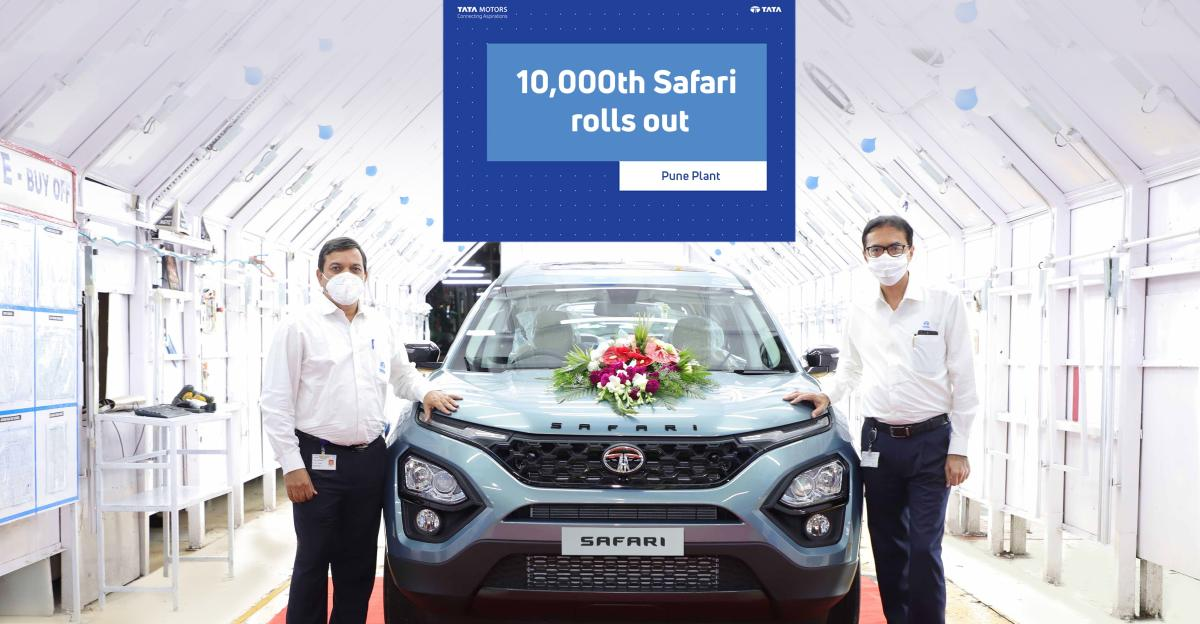 Tata Motors rolls out 10,000th Safari from production line