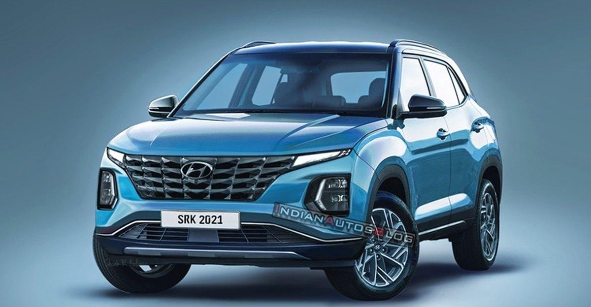 2022 Hyundai Creta compact SUV Facelift: Front fascia spied