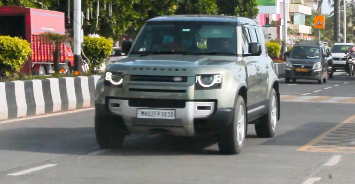 Bollywood actor Arjun Kapoor spotted taking his Land Rover Defender for a spin on Mumbai roads