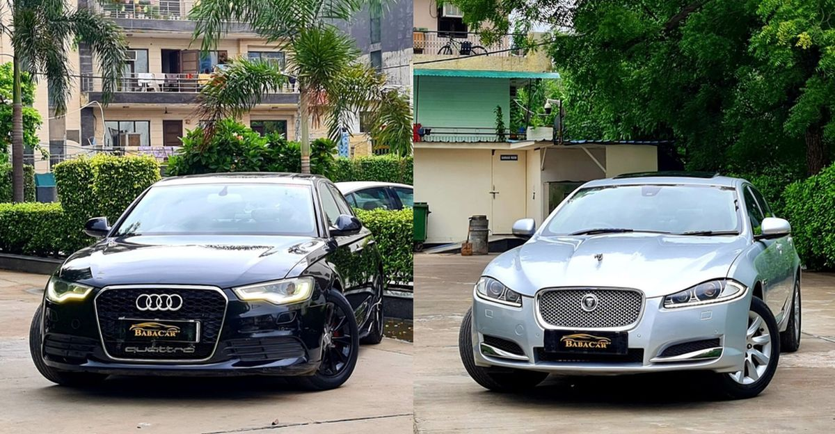 Well maintained Audi A6 and Jaguar XF luxury sedans selling at compact SUV prices