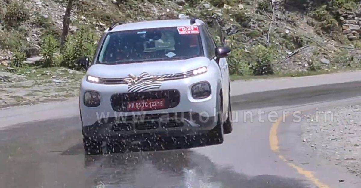 Citroen C3 AirCross and Berlingo spied during high altitude testing