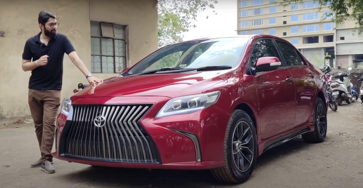 Toyota Corolla Altis modified with custom made Lexus kit looks premium
