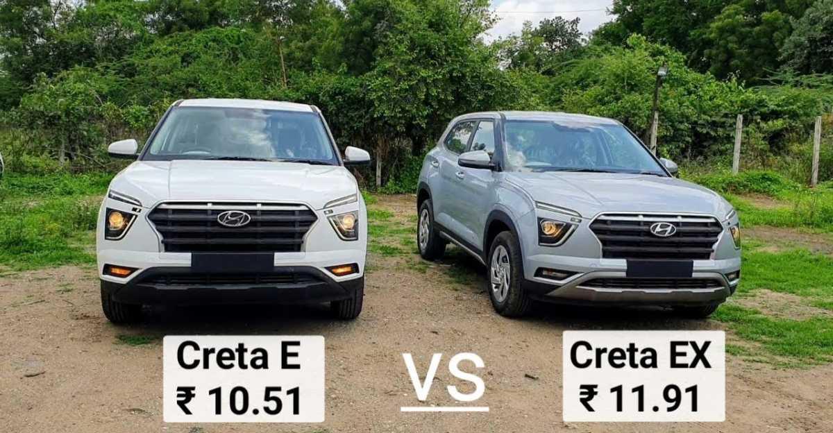 2021 Hyundai Creta: Differences between Base E & EX trims explained on video