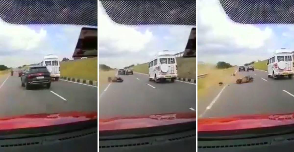 Rashly driven Hyundai Creta hits two-wheeler & flees: Cop launch manhunt for Creta driver