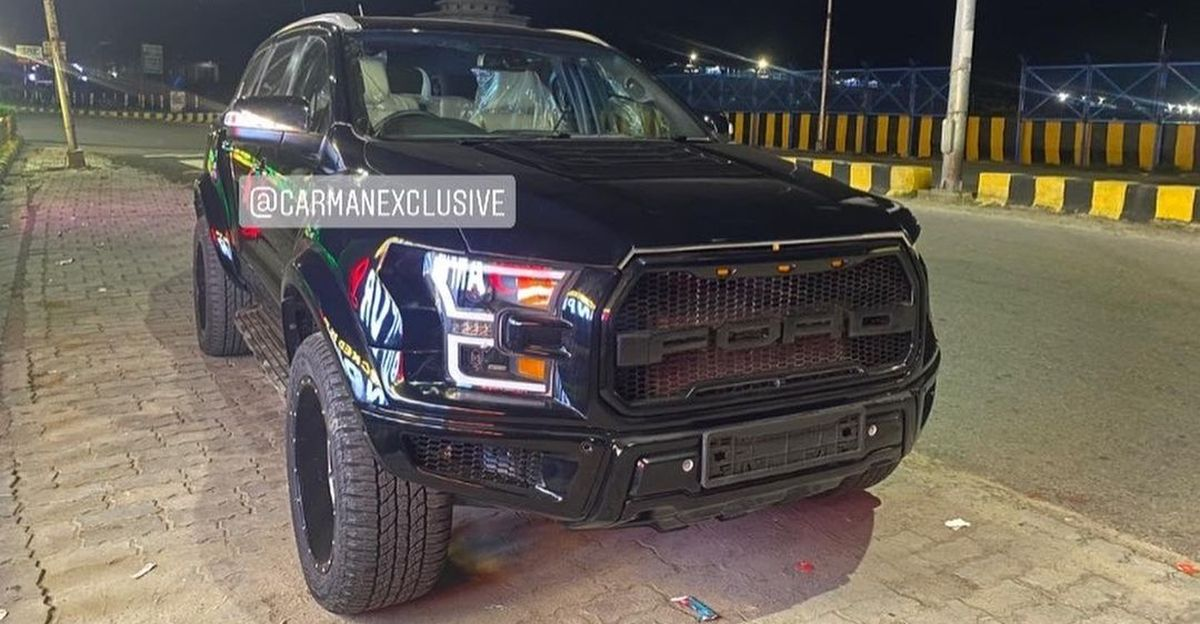 Ford Endeavour modified with F150 Raptor body kit is a beast