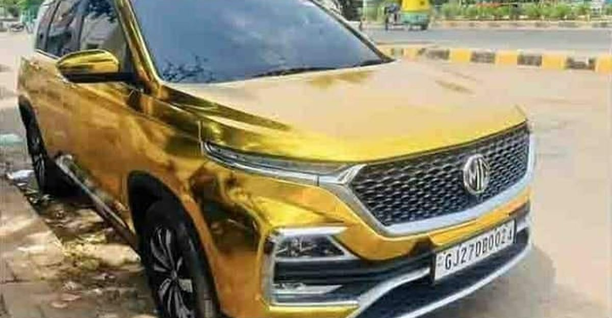 India's first ever gold-wrapped MG Hector is here