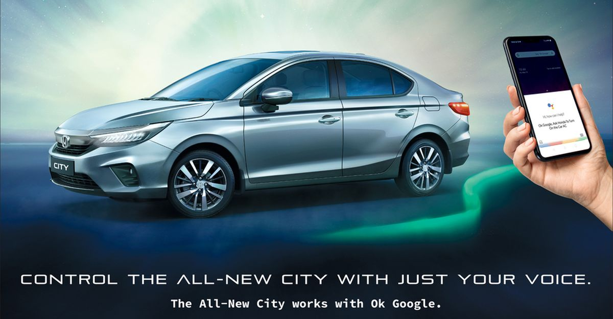 5th generation Honda City sedan now supports Google Assistant