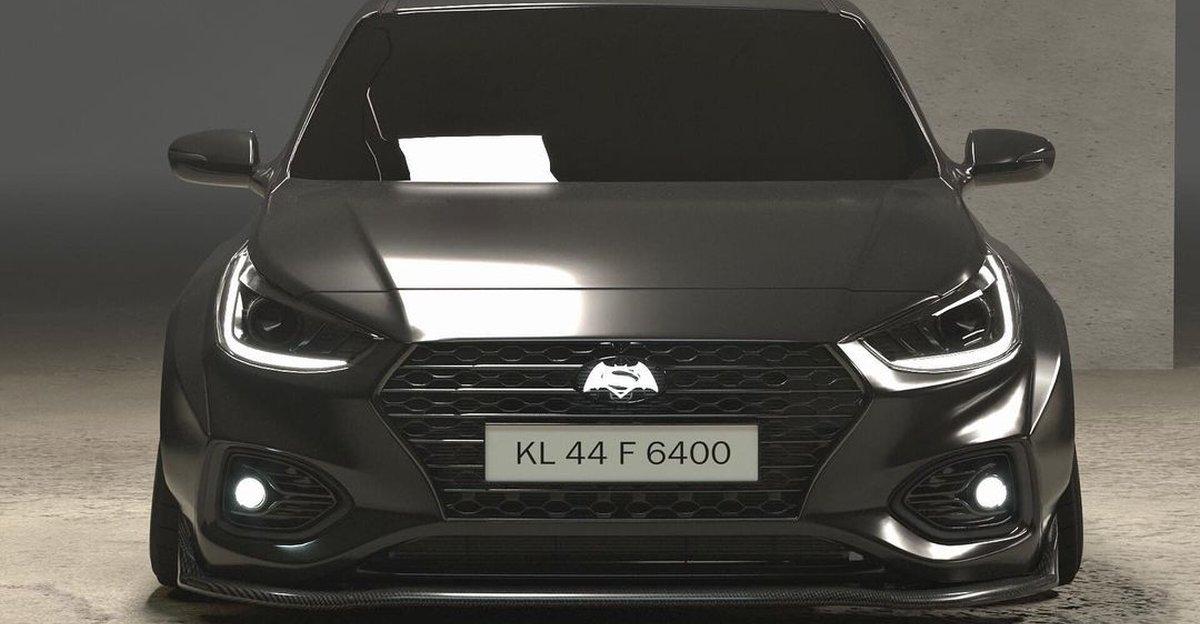 Hyundai Verna rendered as a widebody sedan looks SHARP