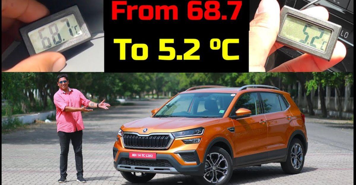 Skoda Kushaq compact SUV: AC performance test in Indian summer