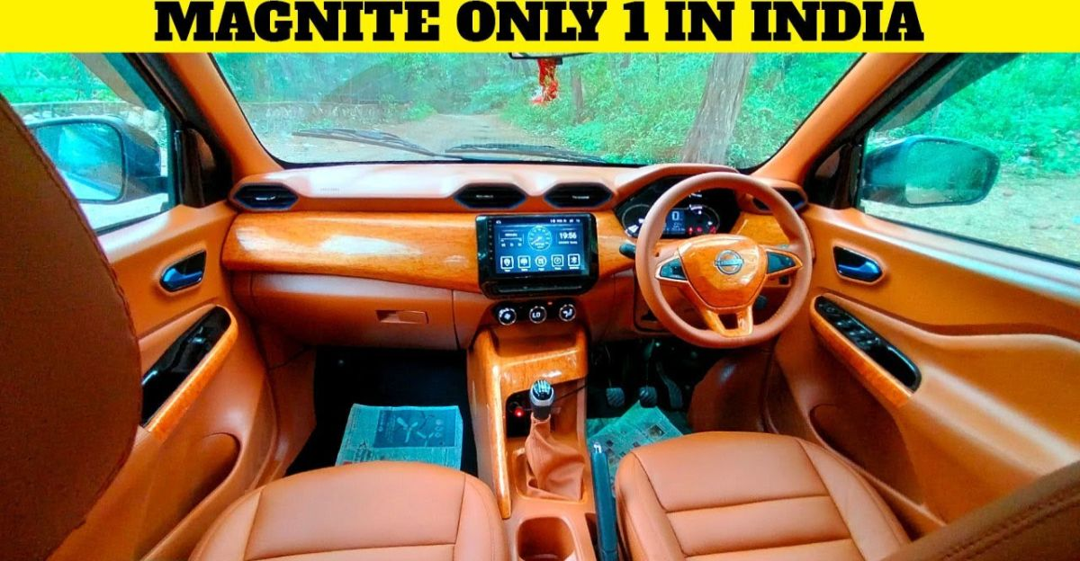 Nissan Magnite with completely customised interior looks neat