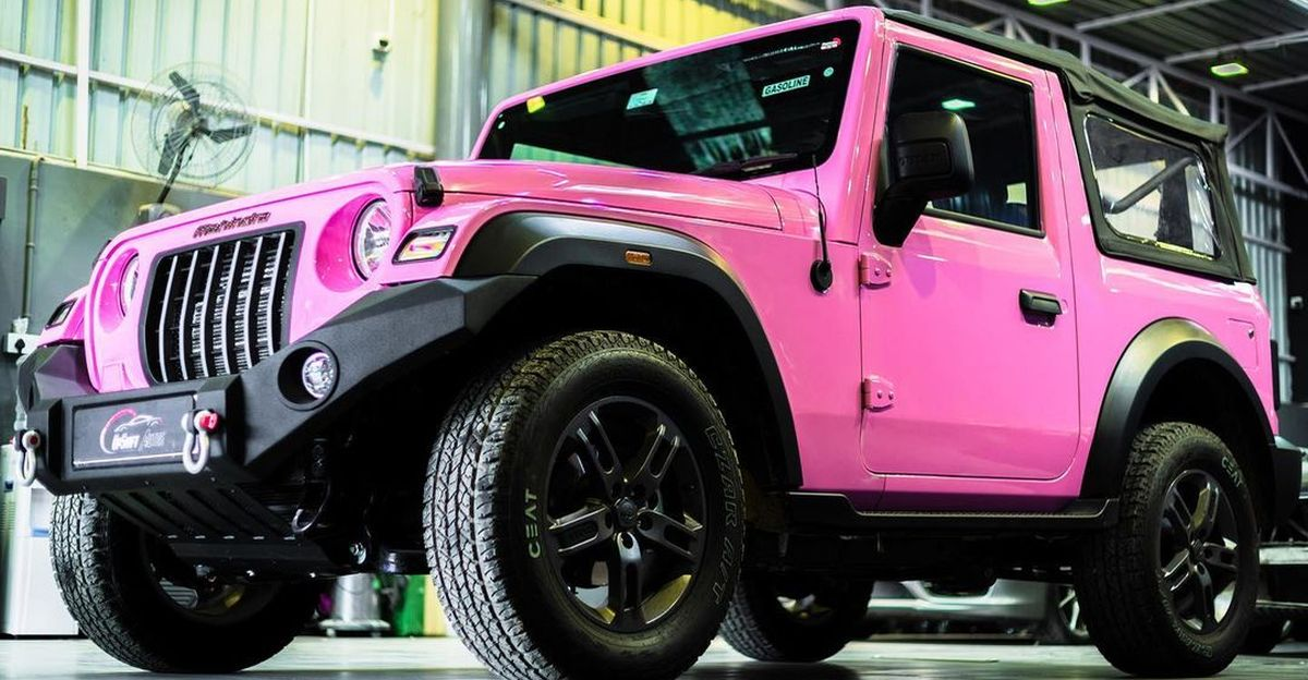 India's first new Mahindra Thar in hot pink colour: This is it!