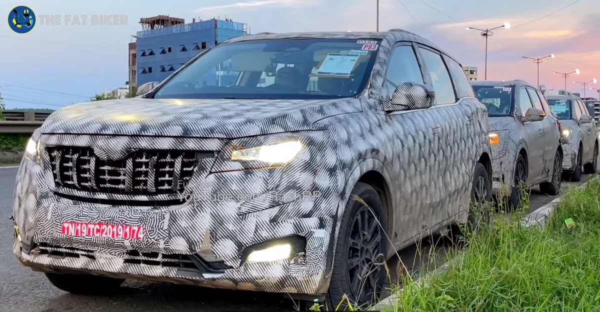 2021 Mahindra XUV700 7 seat SUV spied ahead of launch: Clear Pictures