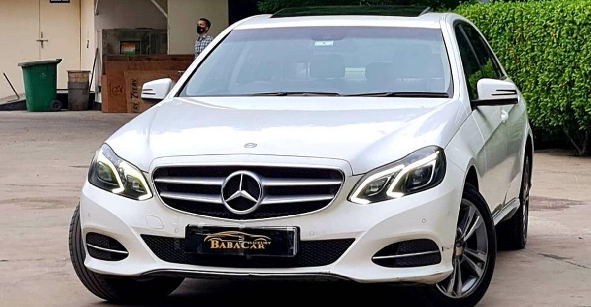 Well-kept Mercedes E-Class luxury sedan selling for less than a Honda City