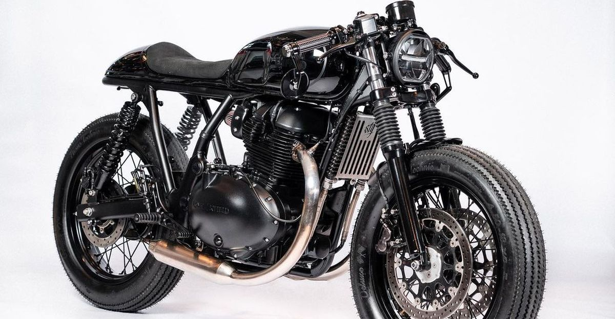 Royal Enfield Interceptor 650 modified into a Cafe Racer looks beautiful