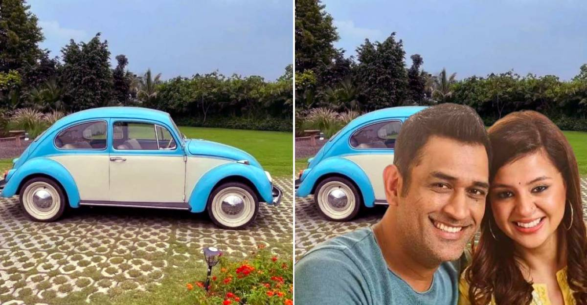 Captain cool MS Dhoni gifts wife a vintage Volkswagen Beetle for wedding anniversary?