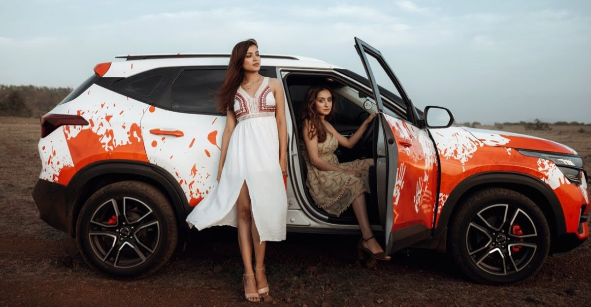 India's first Kia Seltos with 'blood splatter wrap': This is it