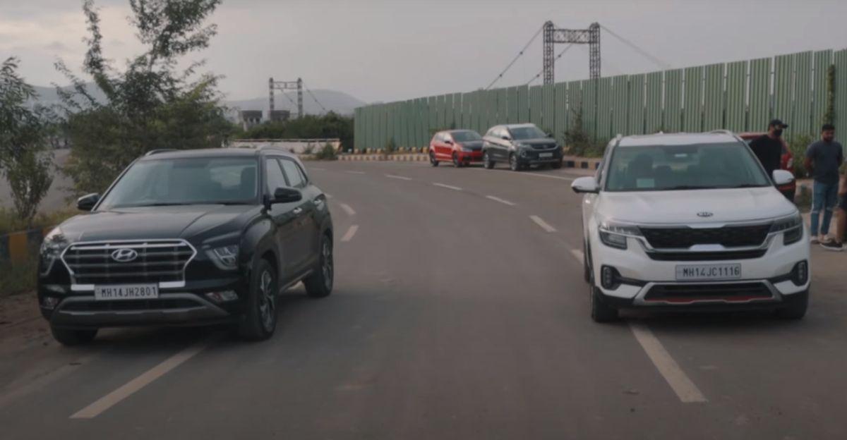 Hyundai Creta vs Kia Seltos Diesel ATs in a classic drag race
