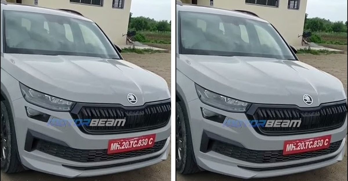 Skoda Kodiaq facelift spotted testing without camouflage in India