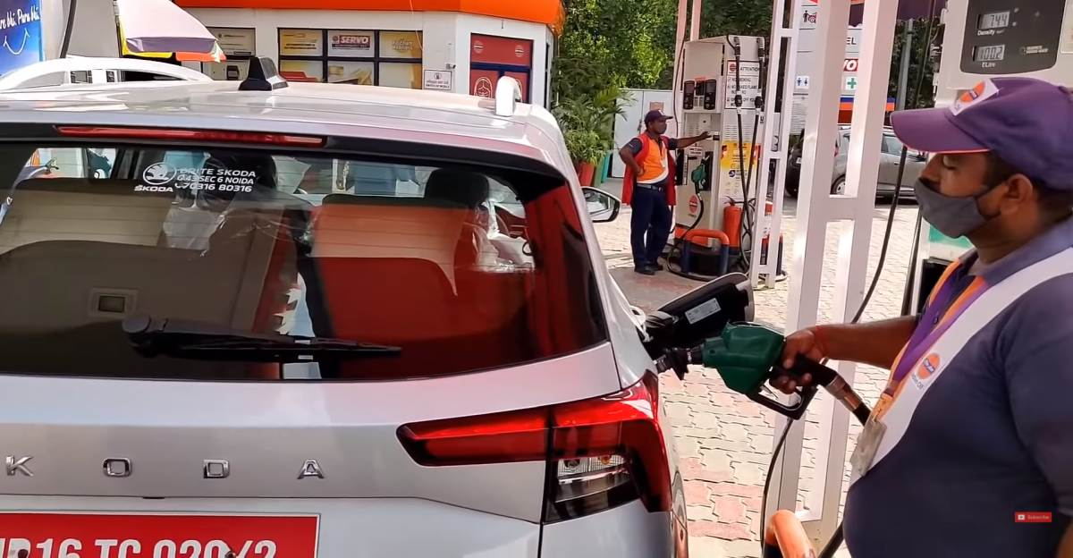 Skoda Kushaq 1.0 TSI AT in a fuel efficiency test