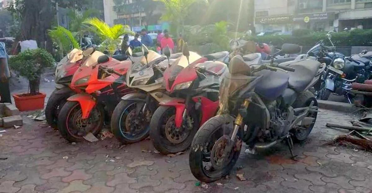 Yamaha FZ-1, Honda CBR 600RR & more superbikes ABANDONED in Mumbai
