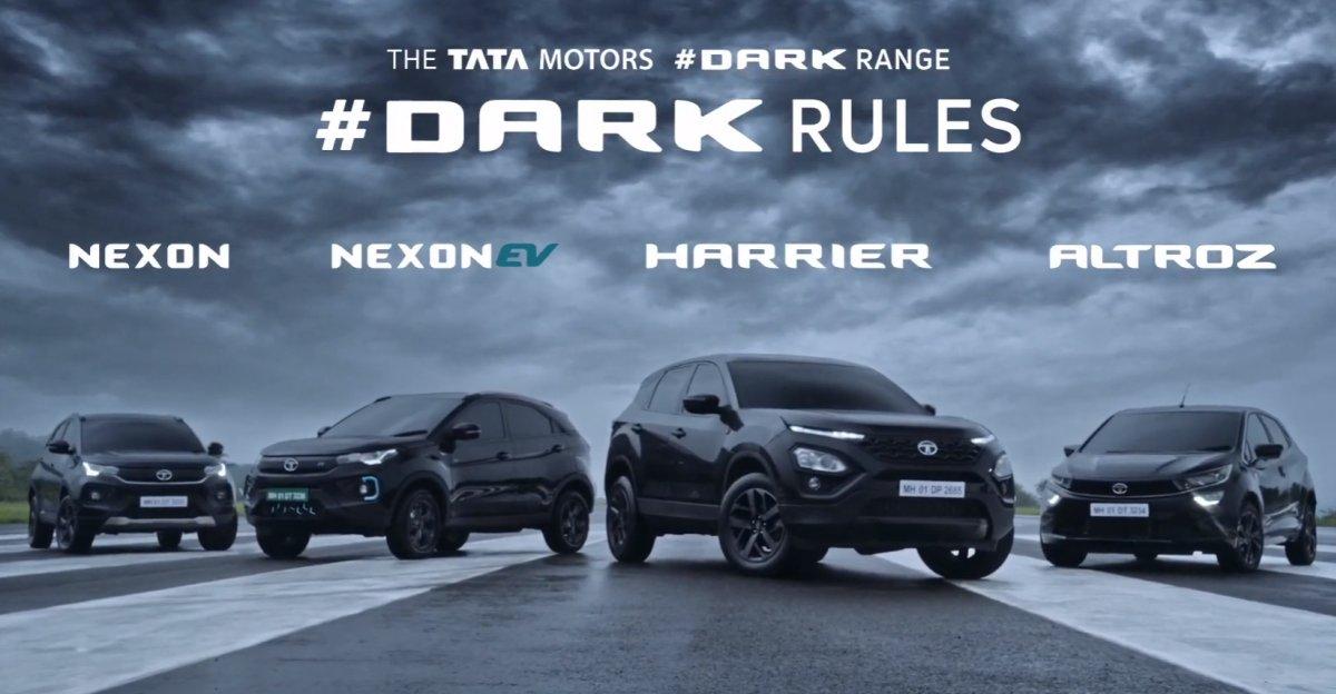 Tata Motors launches Dark Editions of Nexon, Harrier, Nexon EV & Altroz