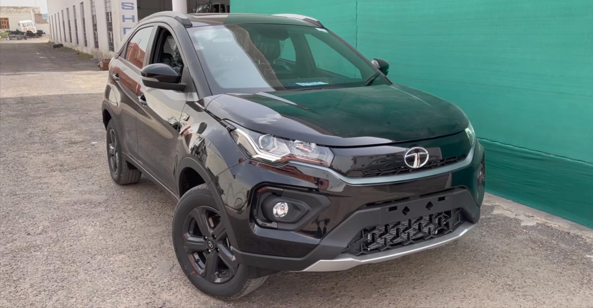 Tata Nexon Dark Edition: Walkaround video reveals the compact SUV inside out