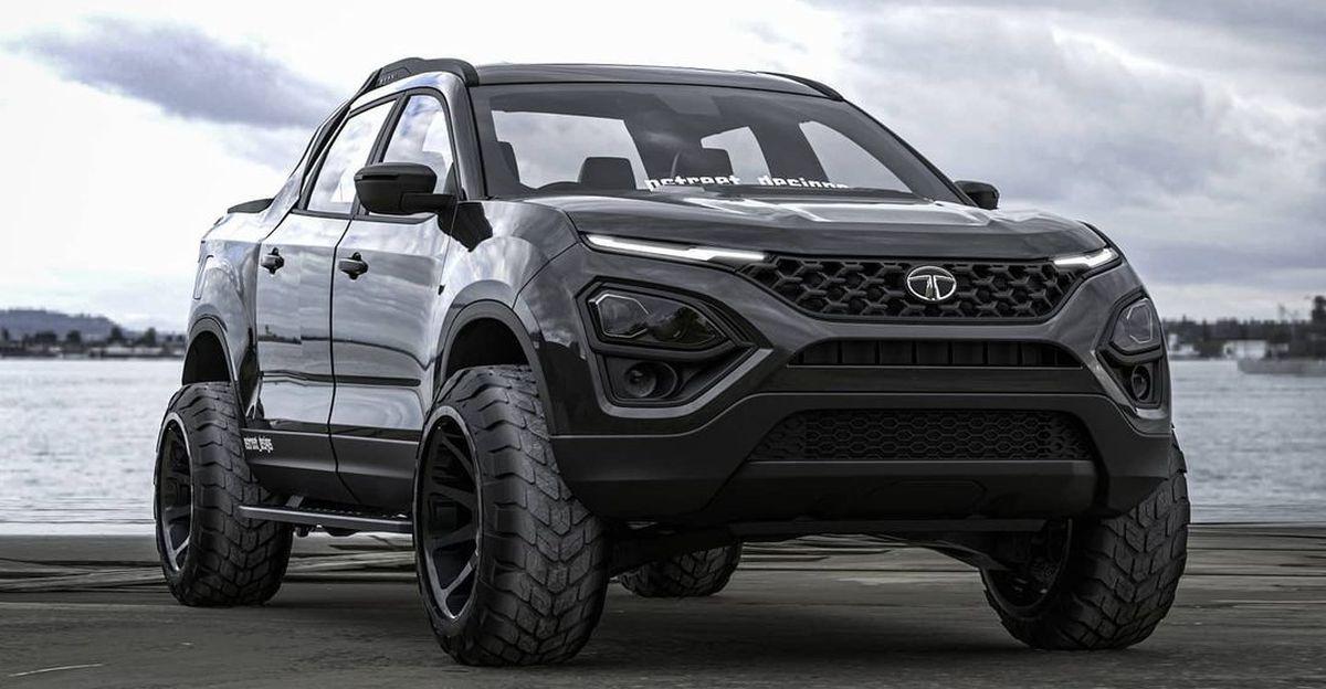 New Tata Safari imagined as a pickup truck