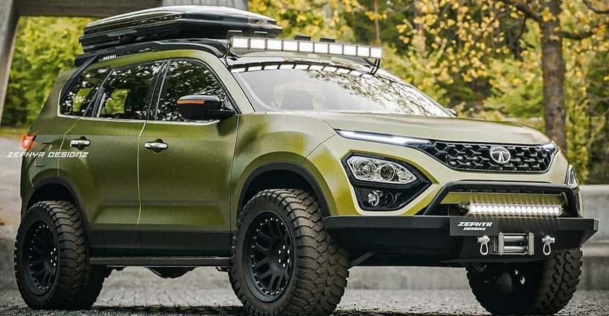 Tata Safari rendered as an off-roader SUV