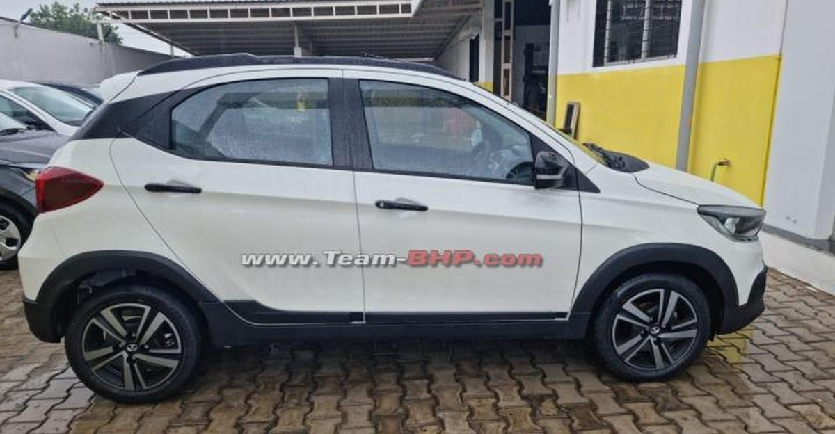 Tata Tiago NRG spotted ahead of launch at dealership