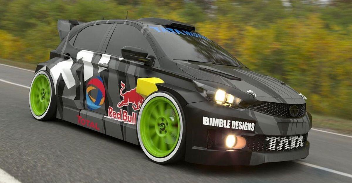 Tata Tiago imagined as a WRC Rally Car